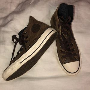 Leather Converse High Tops
